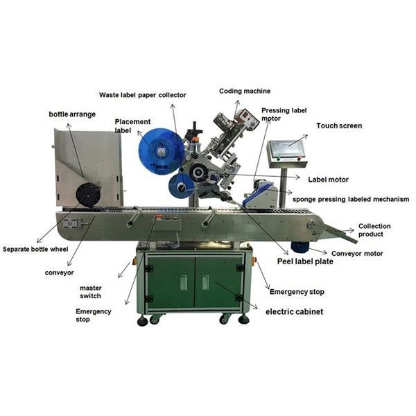 Фармацевтикалық флаконға арналған жапсырманы таңбалау машинасы 10-30 мм бөтелкелер диаметрі