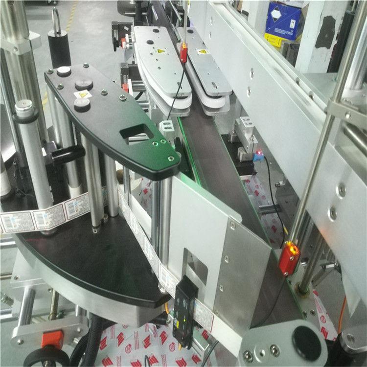 Шаршы дөңгелек жалпақ бөтелкеге арналған автоматты екі жақты жапсырма жапсырма машинасы
