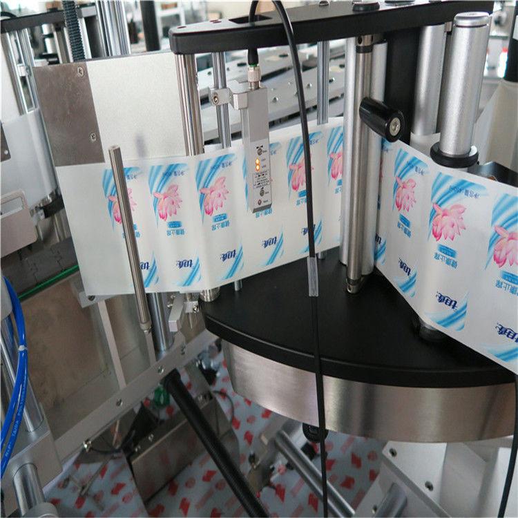 Автоматтық бір немесе екі жақты алтыбұрышты дөңгелек бөтелке жапсырмаларын жапсыру машинасы