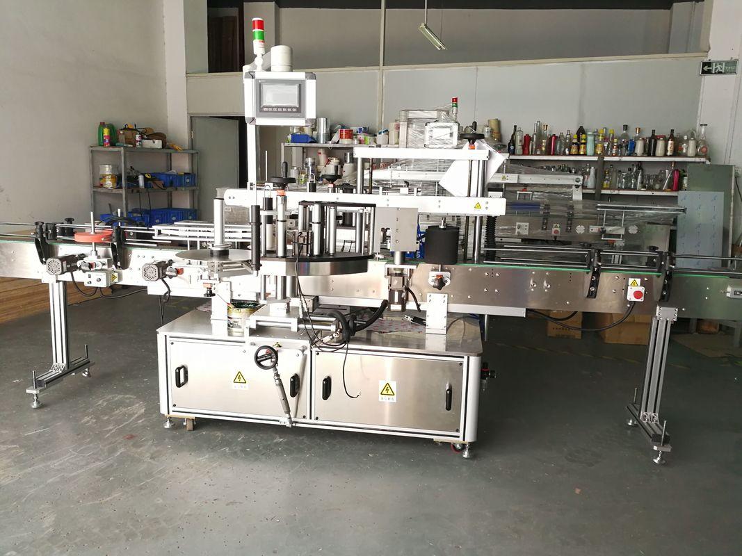 Дөңгелек бөтелкелерді жапсыруға арналған машина / тегіс беттік тегіс жапсырма аппликаторы