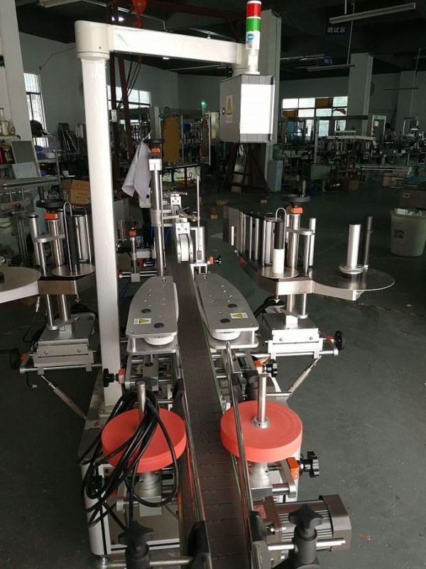 Сусабын сопақ және жалпақ бөтелкелерге арналған автоматты екі жақты жапсырма жапсырма машинасы