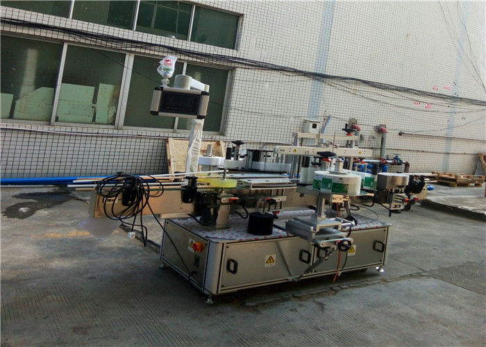 Жалпақ квадрат бөтелке құмырасына арналған автоматты екі жақты жапсырма машинасы