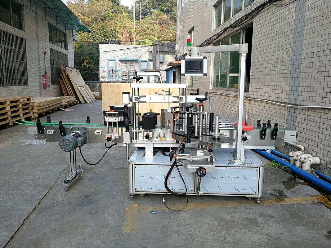 Автоматты жапсырма жалпақ бөтелкені таңбалау машинасы интеграцияланған алдыңғы және артқы жағы