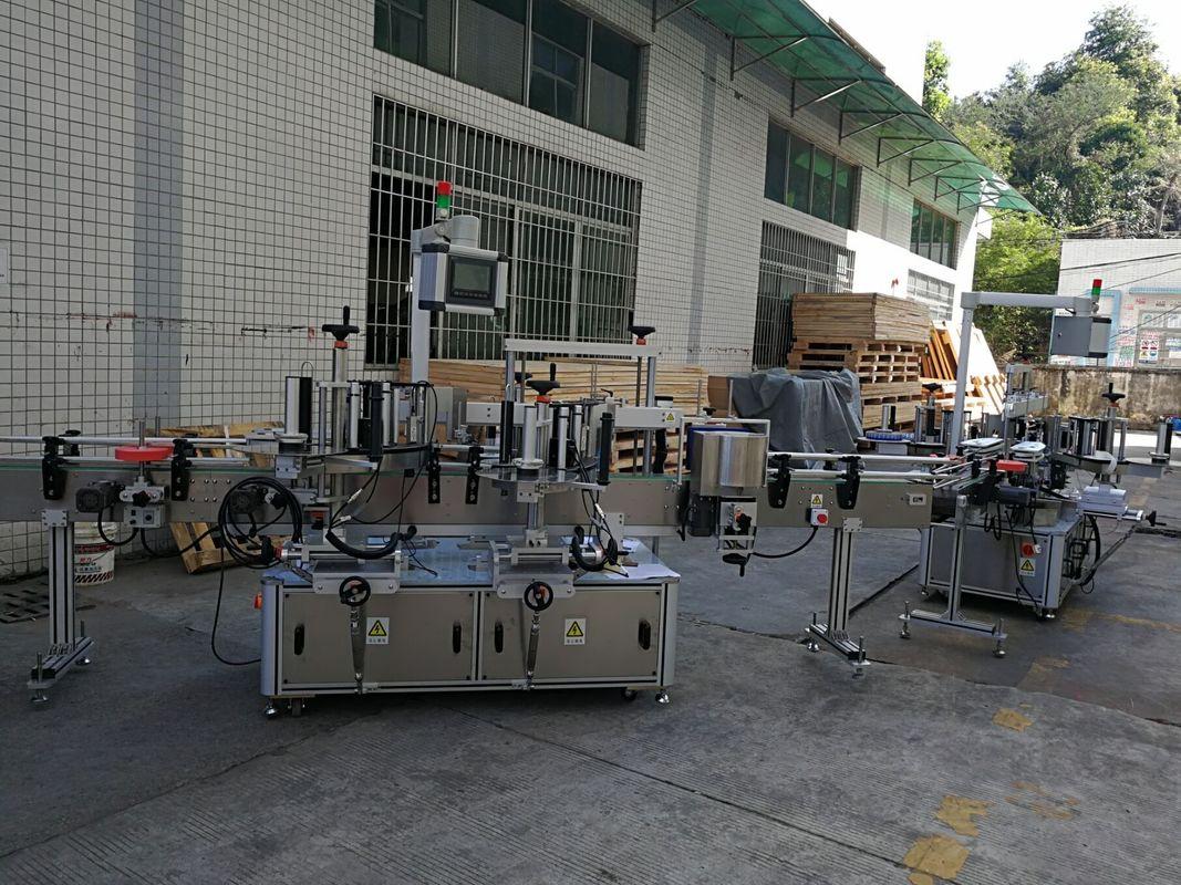 Жалпақ / төртбұрышты бөтелке жапсырмаларын жапсыру машинасы Толық автоматты 5000-8000B / с сыйымдылығы